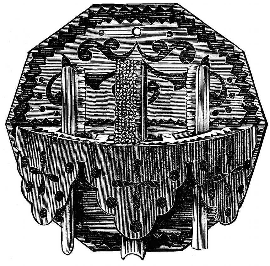 an 1861 toothbrush holder, zigzag pattern