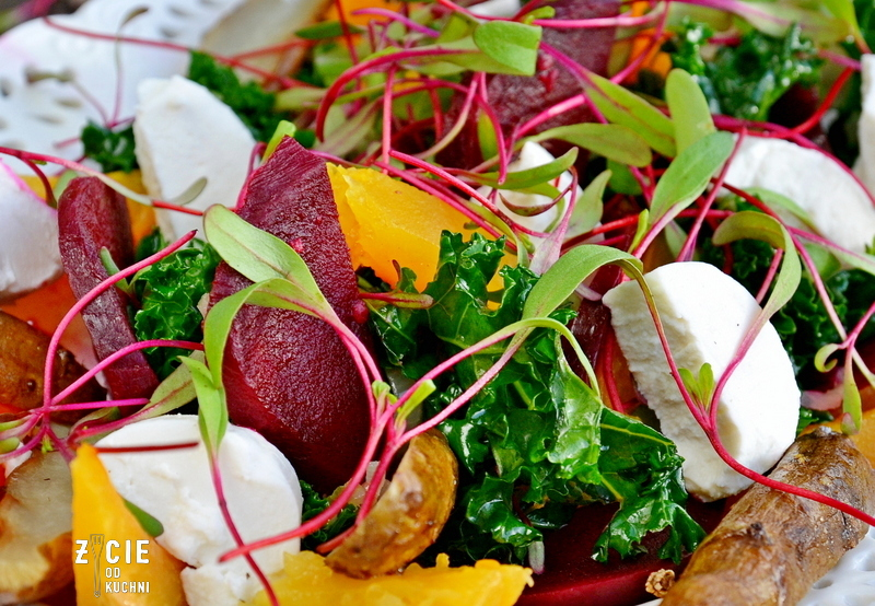 salatka z topinamburem, przepisy z topinamburem, topinambur, styczen sezonowe przepisy, zima sezonowe przepisy , styczen sezonowe warzywa, jermuz, salatka z jarmuzem, przepisy z jarmuzem, dynia, salatka z dynia, przepisy z dynia, buraki, salatka z burakiem, przepisy z burakiem, buraki marynowane, on i ona w kuchni, projekt on i ona w kuchni, zycie od kuchni