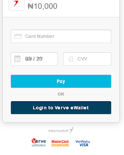 Interswitch Payment page