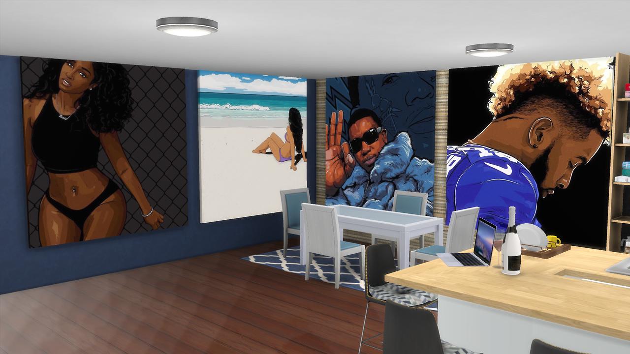 Sims 4 CCs - The Best: Lunvrs Art Collection Vol. 6