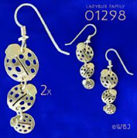 Ladybug Earrings Gold Jewlelry  French Curve