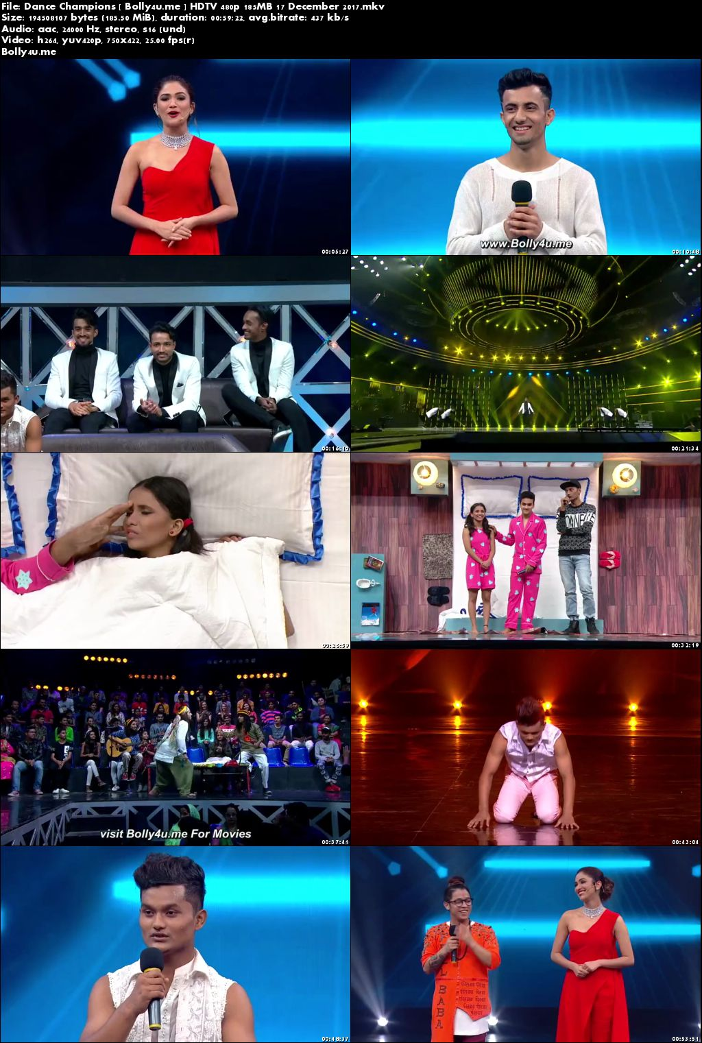Dance Champions HDTV 480p 180MB 17 Dec 2017 Download