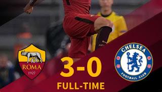 Roma Tekuk Chelsea 3-0 - Highlights