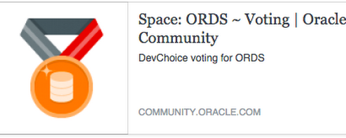 My Nomination for the Oracle Database Developer Choice Awards