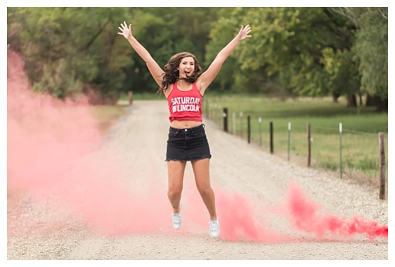 Senior Picture Smoke Bomb
