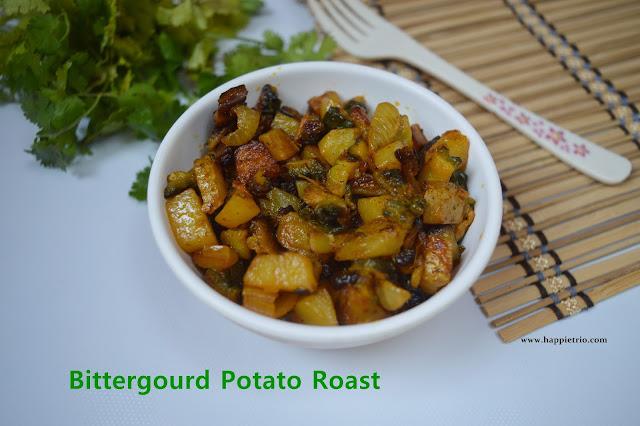 Bitter gourd potato Roast Recipe | Pavakkai Urulai Kizhangu Varuval