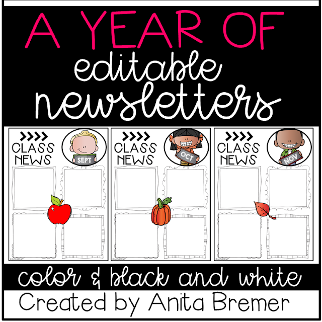 EDITABLE class newsletters to help communicate with parents!