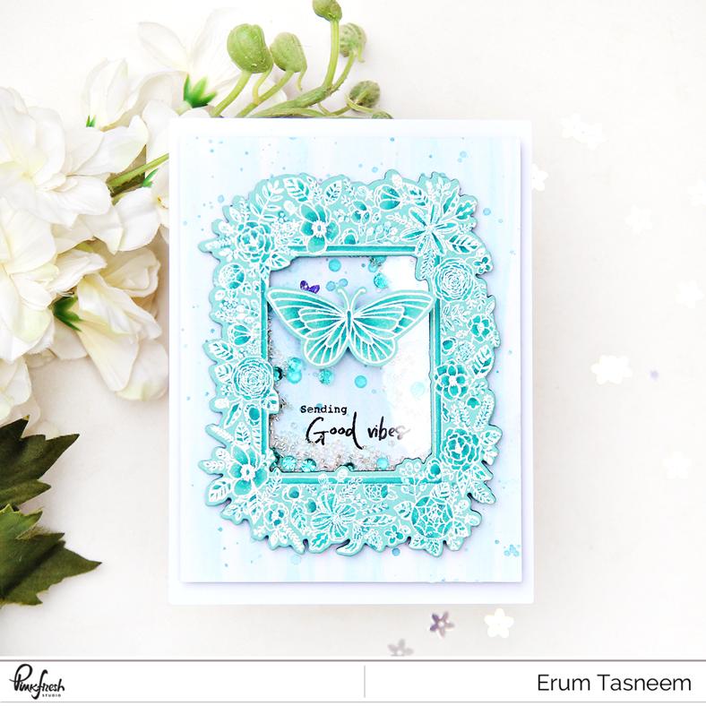 Pinkfresh Studio  Floral Frame Stamp Set | Erum Tasneem | @pr0digy0