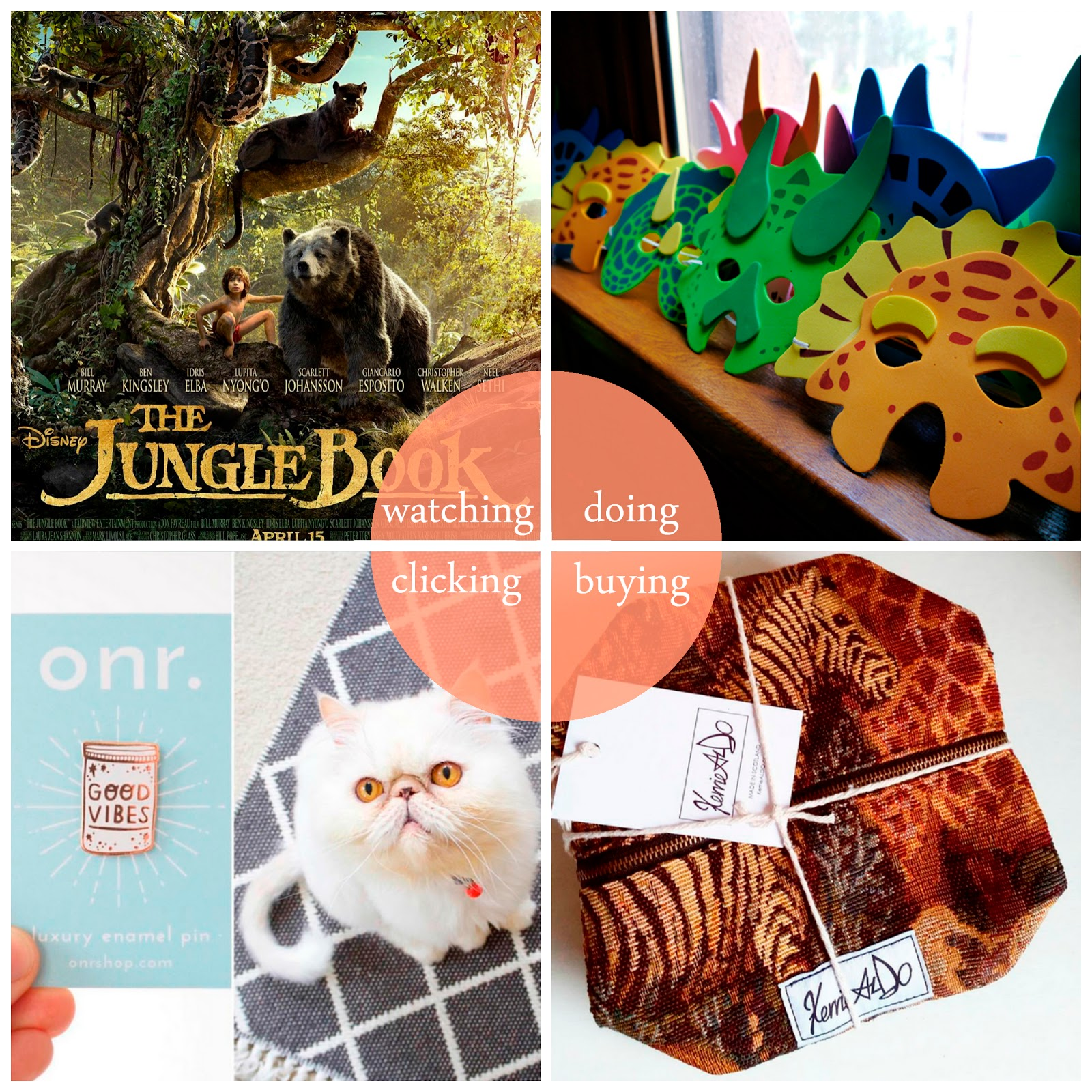 round up, best bits, Scottish bloggers, The Jungle Book, dinosaur party, Morningside Makers Market, Kerrie Aldo, Hayley Scanlan, Oh No Rachio