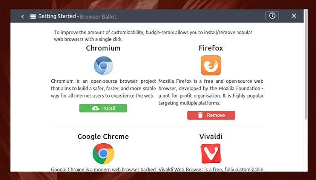 Ubuntu Budgie - Browser Ballot