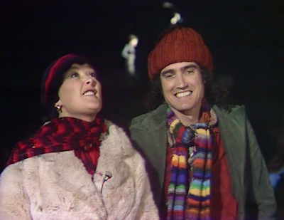 Mick Robertson and Jenny Hanley in Magpie (Christmas Eve 1976).