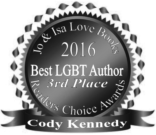 Cody takes 3rd Place BEST LGBT AUTHOR in Jo & Isa Love Books Readers Choice Awards!