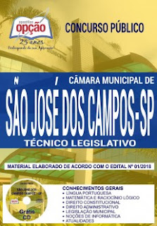 Apostila Câmara de SJC Técnico Legislativo 2018