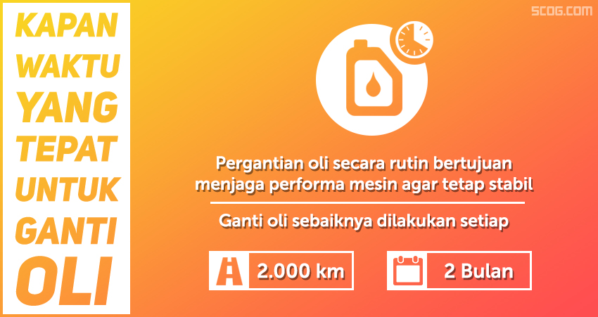 Kapan waktu yang tepat mengganti oli?