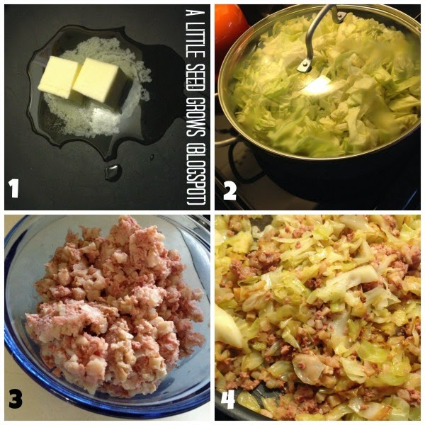 Corned Beef Hash and Cabbage from A Little Seed Grows [St. Patty's Day Recipe Round-Up at A Little Seed Grows]