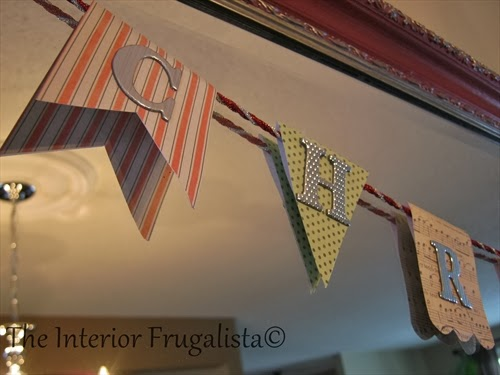 Mini Christmas bunting flag banner