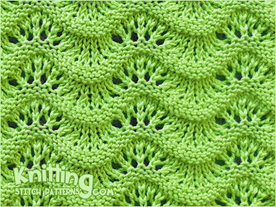 Scalloped Ripple stitch - Simple and beautiful lace stitch. Easy to knit!