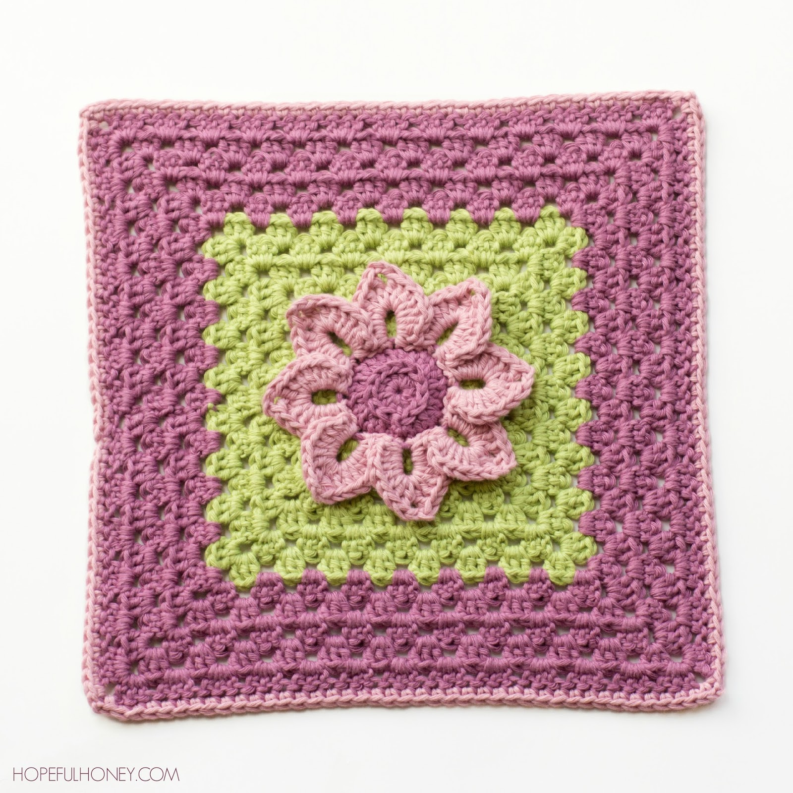 Crochet Patterns Squares : Water Lily Afghan Square - Media - Crochet Me