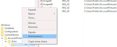 Rimuovere immagine profilo account Windows 10