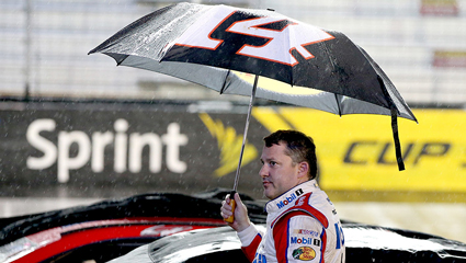 Rain Did Not Delay Tony Stewart Honor