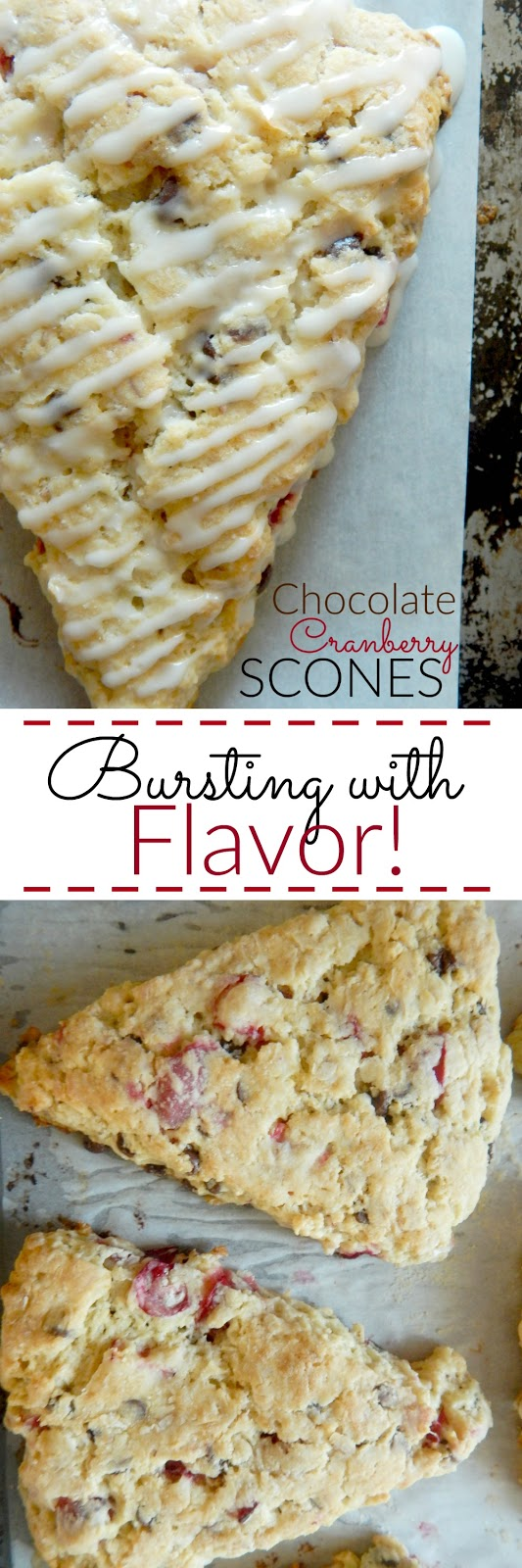 Chocolate Cranberry Scones...tender, flaky and bursting with flavor! (sweetandsavoryfood.com)