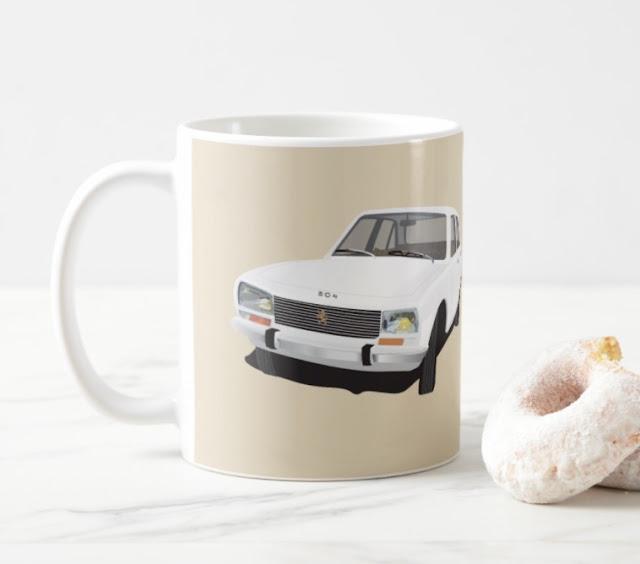 Peugeot 504 coffee mug