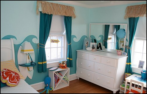 themed bedroom decorating ideas beach bedrooms raffia valance