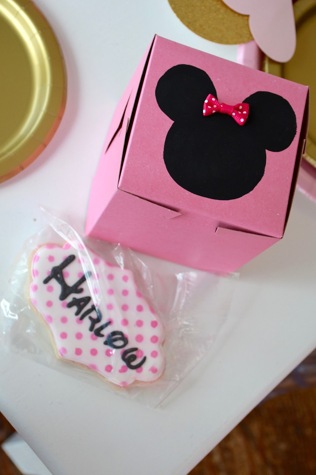 For the Love of Character: Gold & Glam Minnie Mouse 1st Birthday
