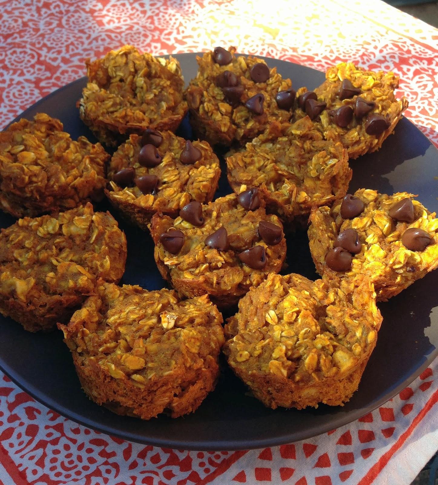 Taylor Made Make Ahead Healthy Breakfast Pumpkin Oatmeal Muffins