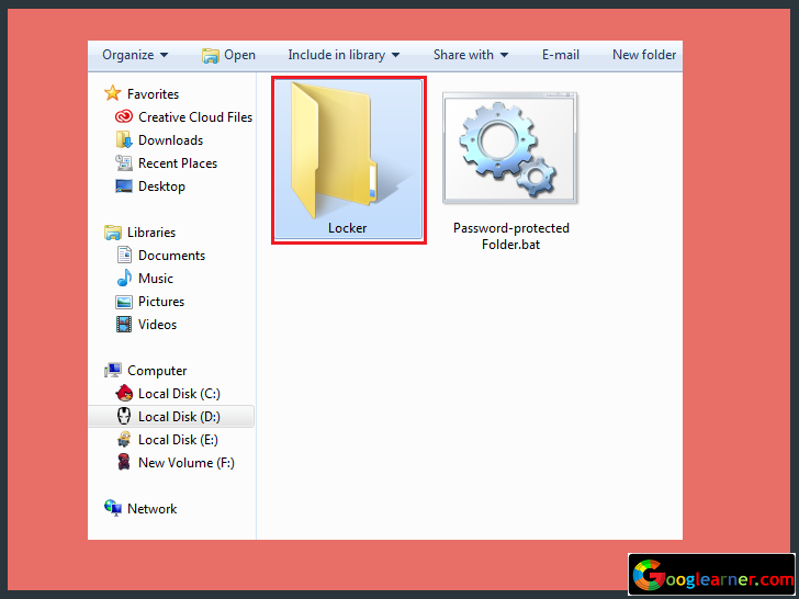 password protect folder in windows