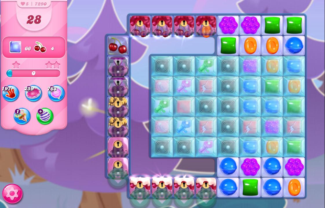 Candy Crush Saga level 7290