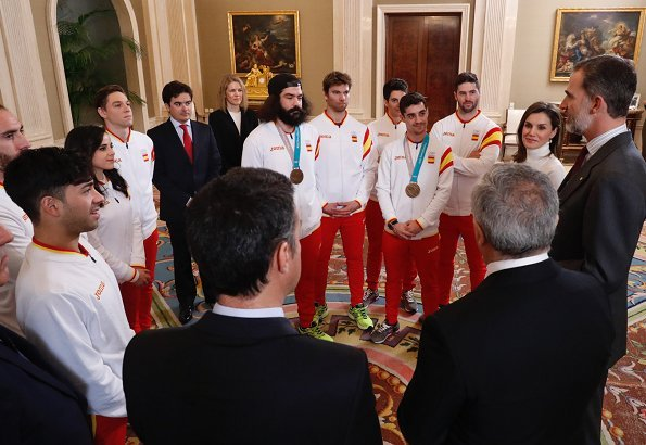Queen Letizia received representatives of Spanish team who participated in XXIII Winter Olympics