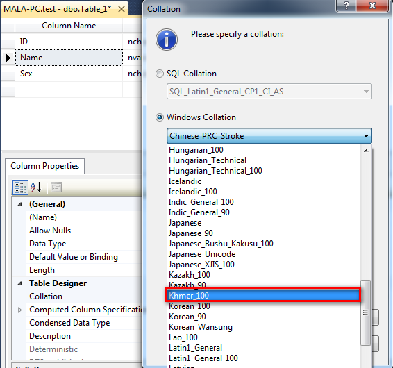 Become To Programmer: MS SQL Server with Khmer Unicode