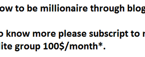 How to be millionaire explained!!!!