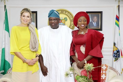 Photos & Full Details From The Visit Of Queen Of Netherlands To Governor Ambode