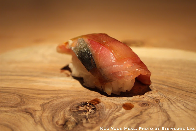 Saba (Mackerel) from Hokkaido with White Seaweed at NAOE