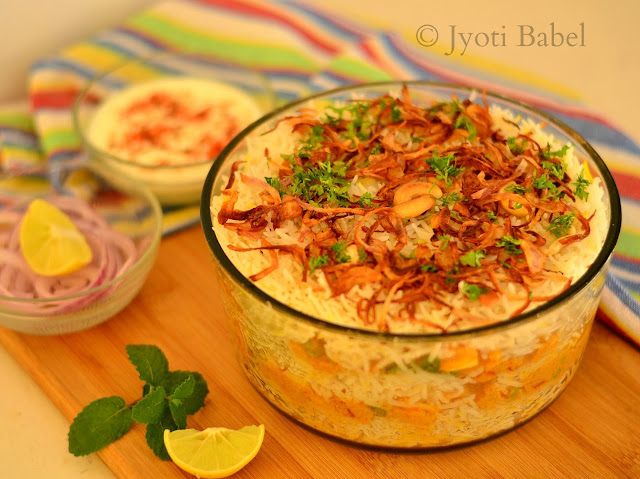 Veg Biryani is a flavourful, spicy and aromatic rice dish that is much loved in India. Here is an easy to follow veg biryani recipe that you can try.