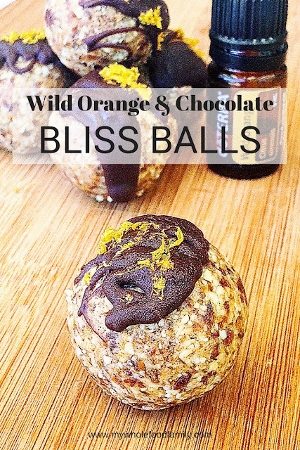 Wild Orange Bliss Balls - work with me doTERRA - www.mywholefoodfamily.com