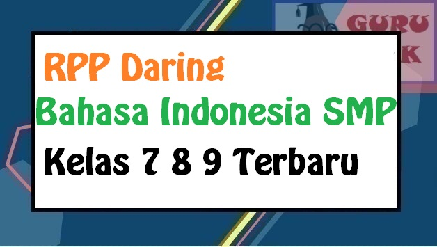gambar contoh RPP daring Bahasa Indonesia SMP