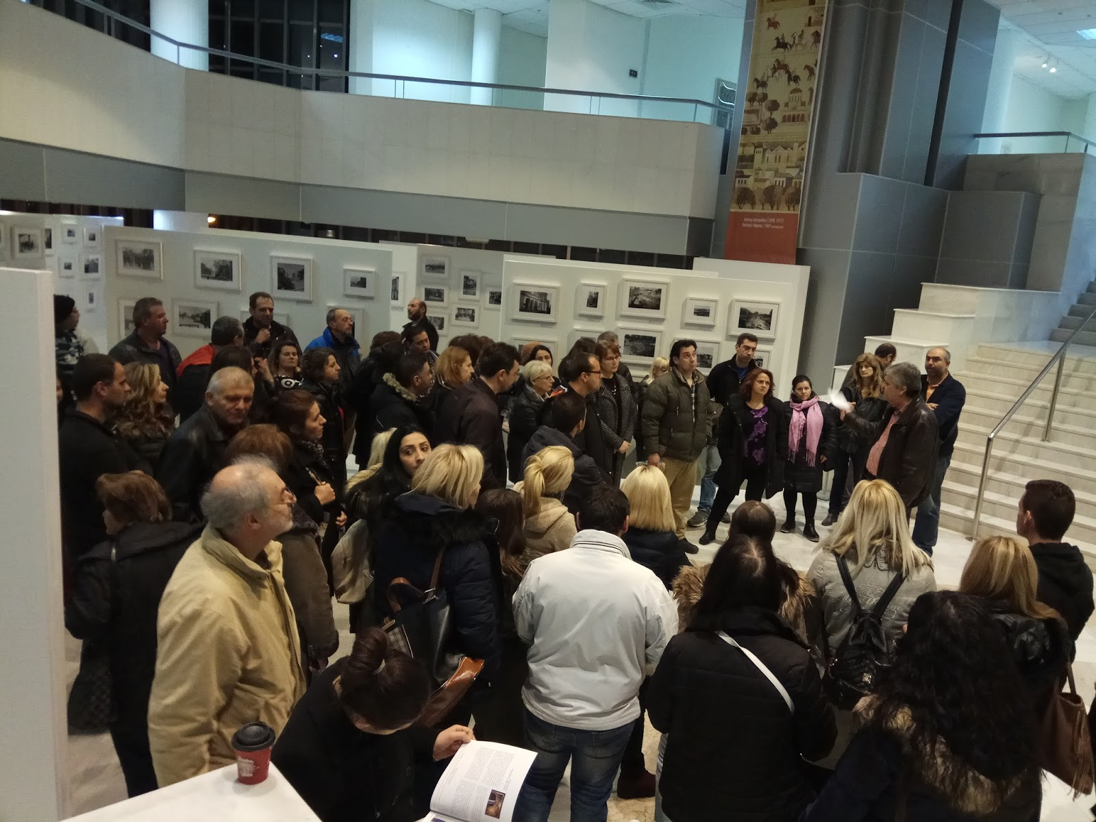 Επίσκεψη του 3ου Εσπερινού ΕΠΑ.Λ. Λάρισας στη Δημοτική Πινακοθήκη