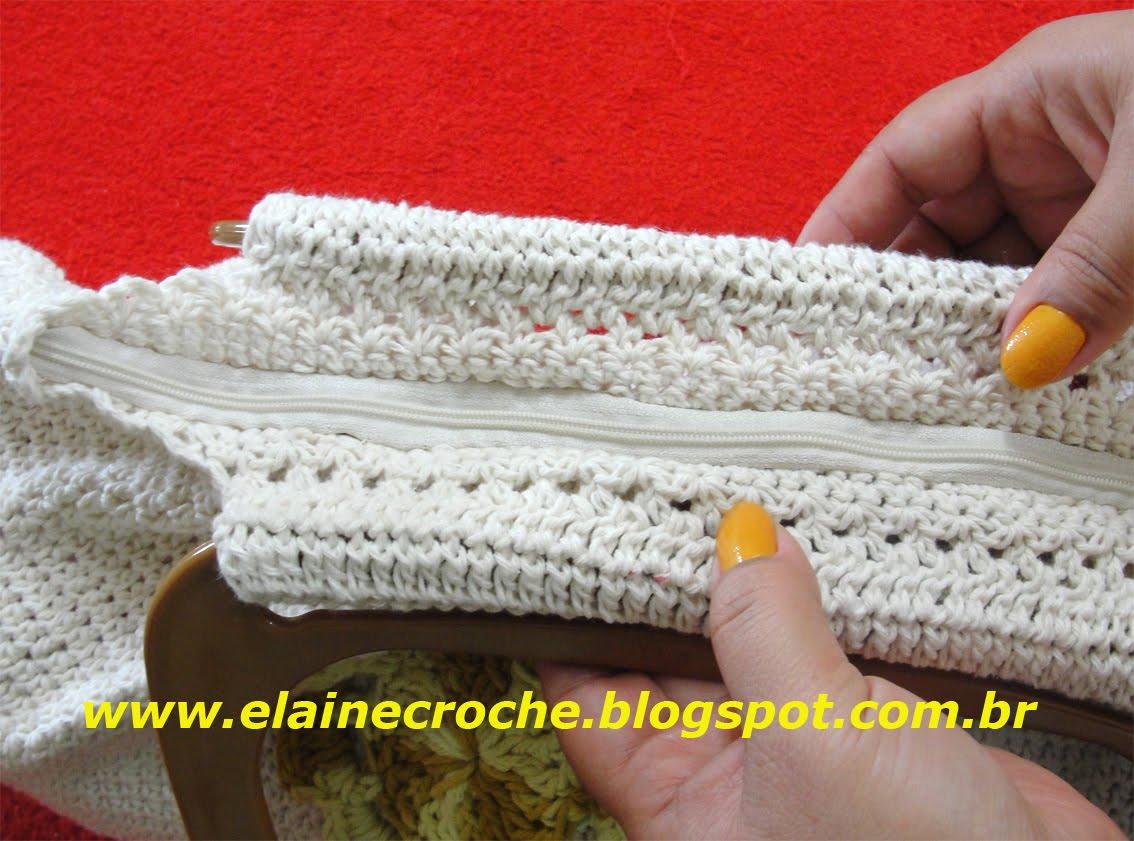 Bolsa De Festa Em Croche Passo A Passo : Elaine croche v?deo aula croch? bolsa em new fat bag