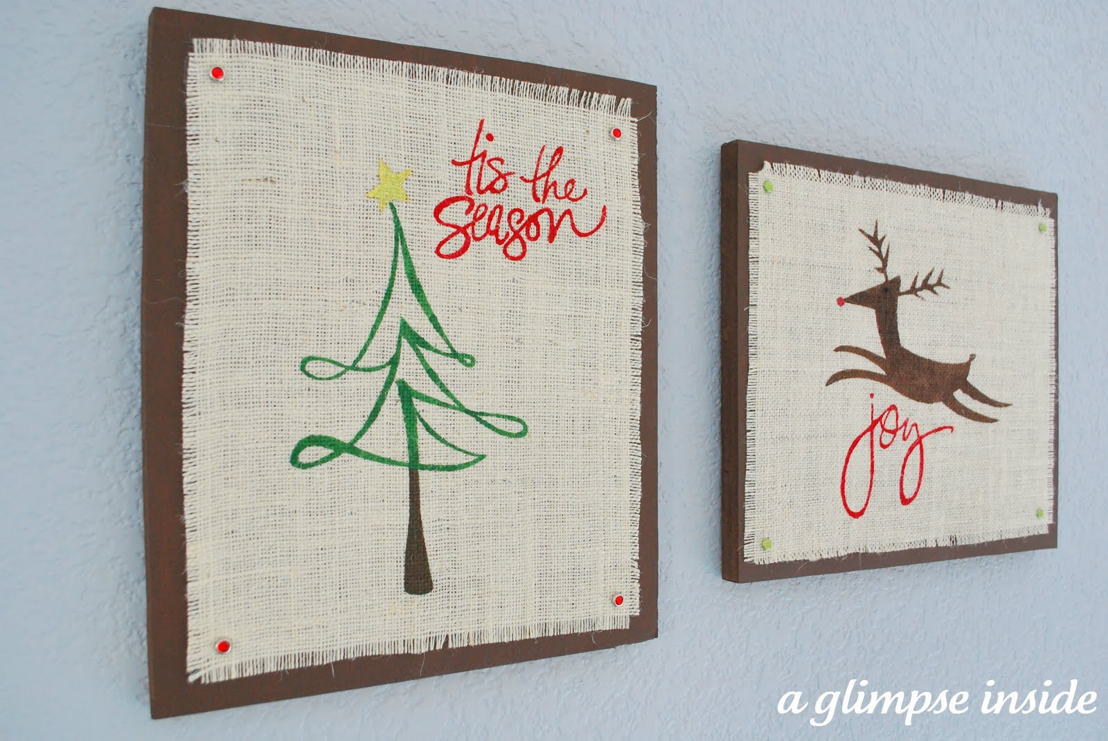 Hang Them On The Wall And You Have Some Cute Easy Christmas Art