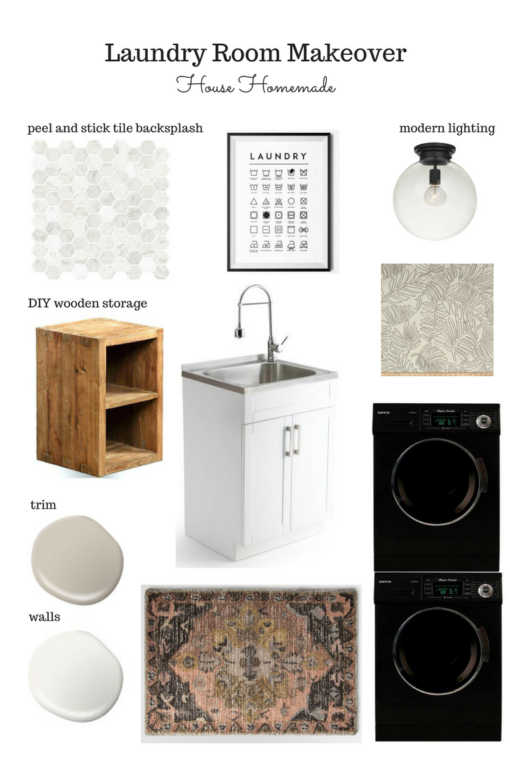 House Homeamade: Laundry Room Refresh moodboard