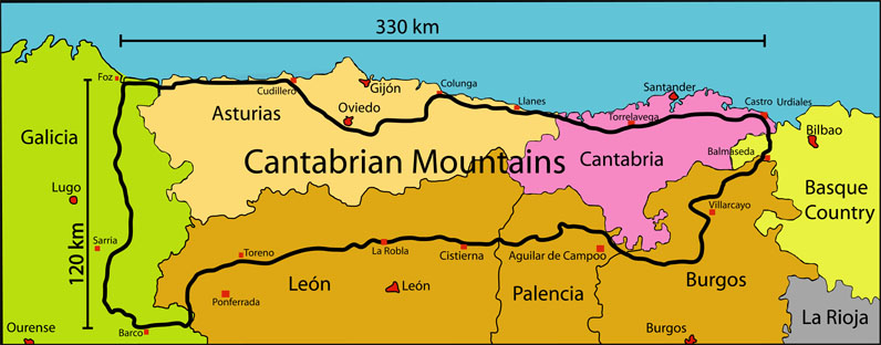 Wild Nature of the Cantabrian Mountains (Spain): Geographic ... on map of taurus mountains, map of salt lake valley, map of sangre de cristo mountains, map of chicagoland area, map of cascade mountains, map of cargo hold, map of carpathian mountains, map of puget sound area, map of cumberland mountains, map of smoky mountains, map of rural area, map of southern alps, map of zagros mountains, map of appalachians, map of tri-state area, map of rocky mountains, map of greater boston area, map of dc area, map of sierras, map of atlanta area,