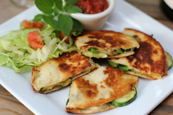 Vegetable Quesadillas with zucchini