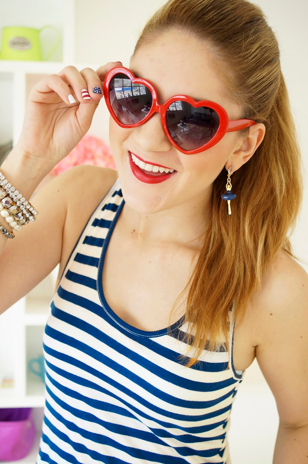 Red Heart Sunglasses, Fashion Blog