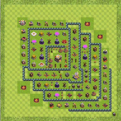 War Base Town Hall Level 11 By Statustar (The worst TH 11 Layout)