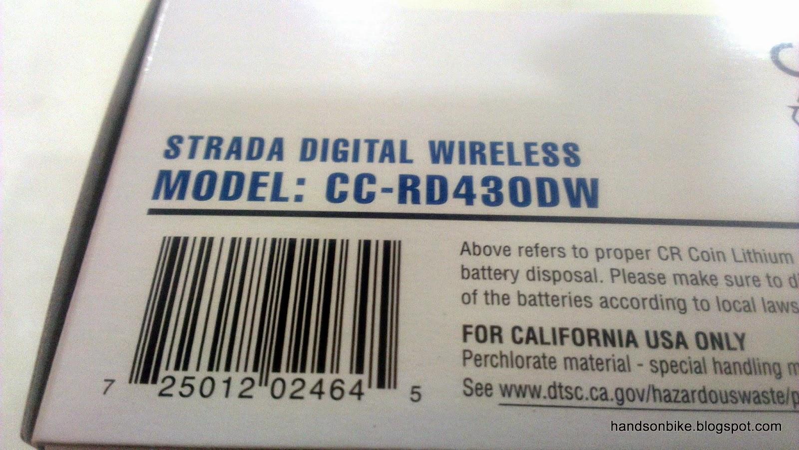 Hands On Bike Cateye Strada Digital Wireless With Heart Rate And