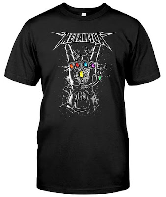Metallica Infinity Gauntlet T Shirt Hoodie Sweatshirt Tank Tops