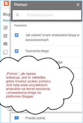 Pomoc, blogowe forum pomocy na Bloggerze.